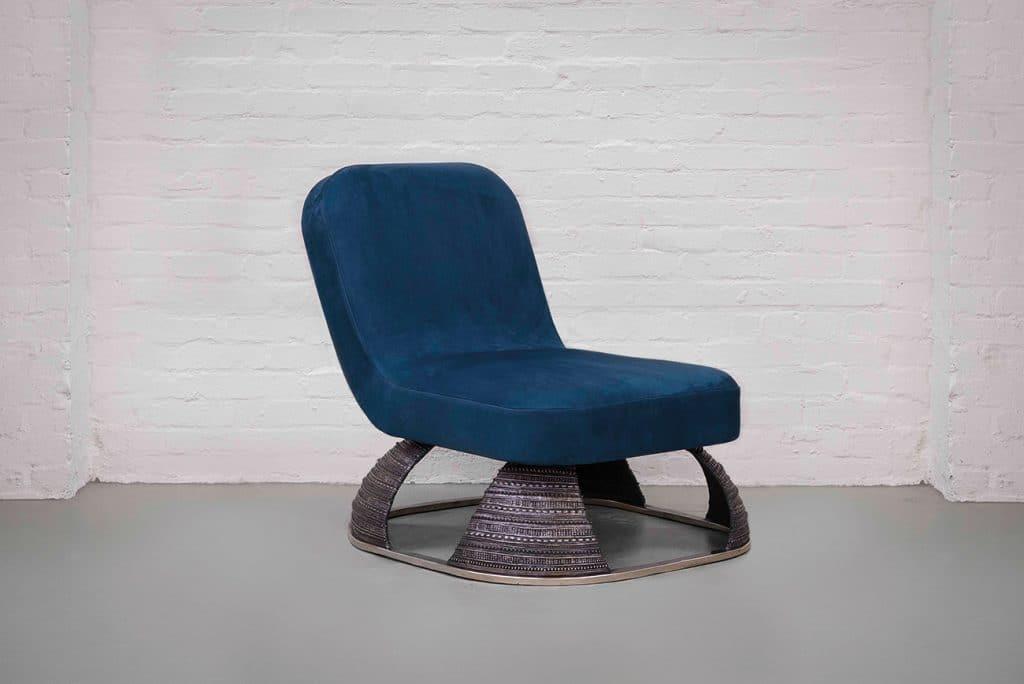 British Designer Fiona Barratt-Campbell Elemental book Rizzoli Privé Collection Armour chair
