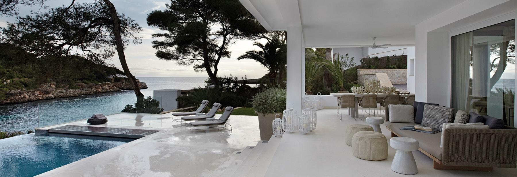 British Designer Fiona Barratt-Campbell Mallorca villa pool and terrace Elemental book Rizzoli