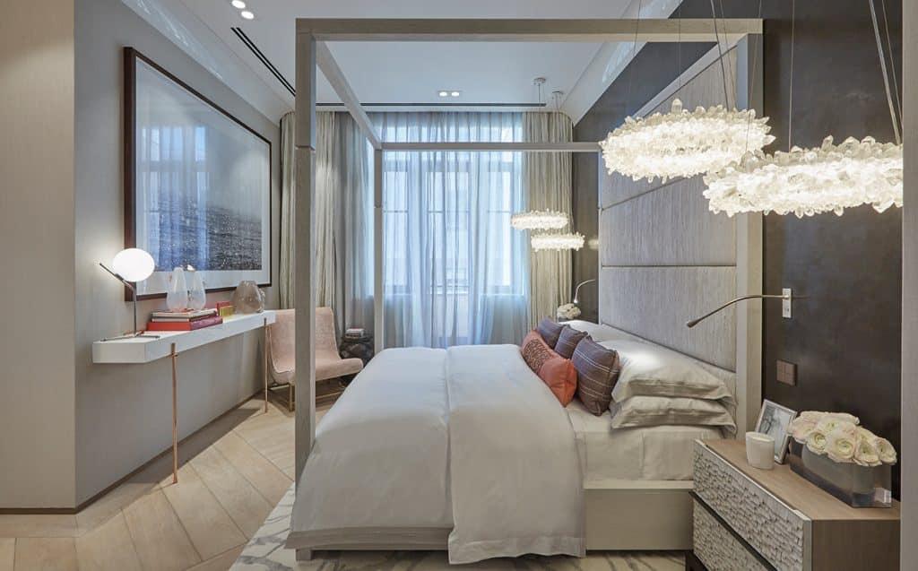 British Designer Fiona Barratt-Campbell Moscow apartment bedroom Elemental book Rizzoli