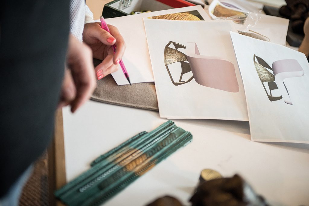 British Designer Fiona Barratt-Campbell Elemental book Rizzoli Privé Collection Armour chair process drawings