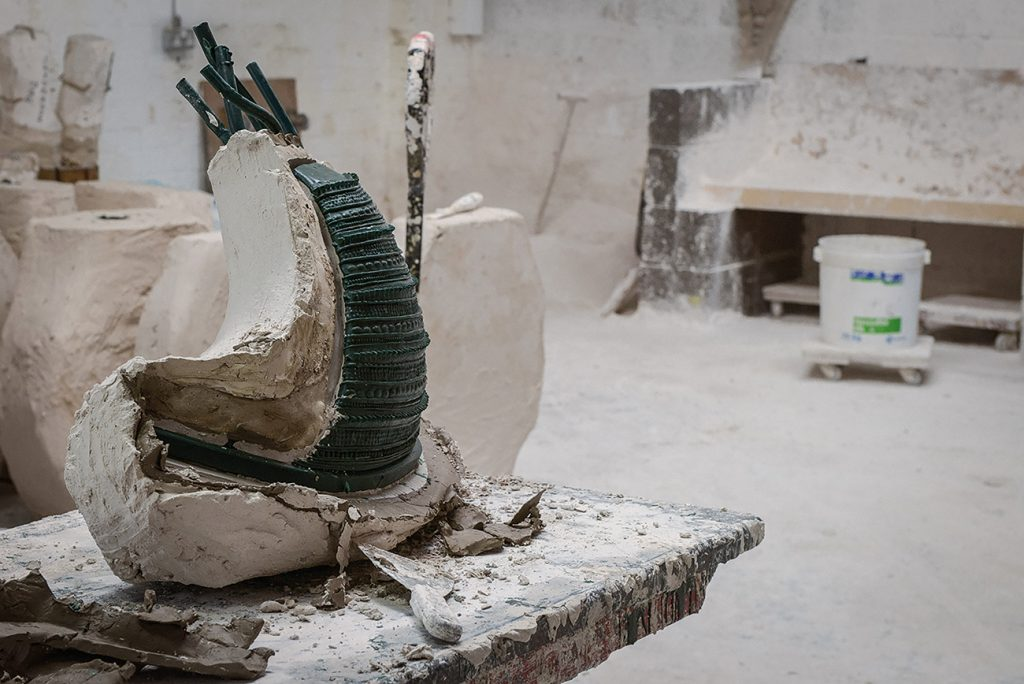 British Designer Fiona Barratt-Campbell Elemental book Rizzoli Privé Collection Armour chair bronze leg casting