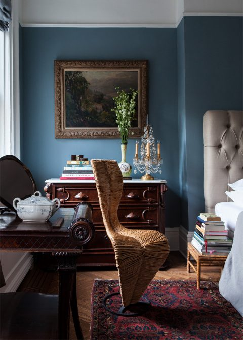 Caleb Anderson bedroom with Tom Dixon S chair