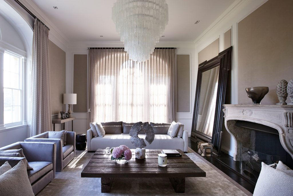 British Designer Fiona Barratt-Campbell Yorkshire manor living room Elemental book Rizzoli
