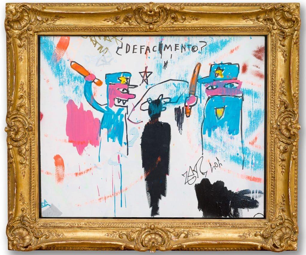 "Jean-Michel Basquiat's 1983 painting ""The Death of Michael Stewart"""