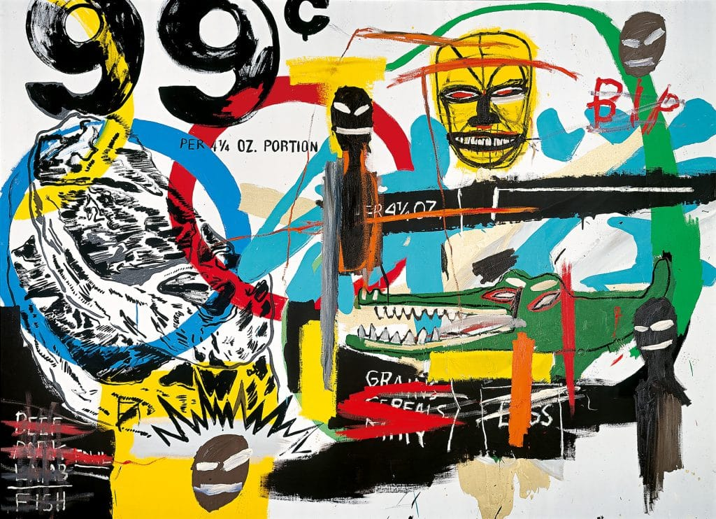 An untitled 1984 canvas by Jean-Michel Basquiat and Andy Warhol