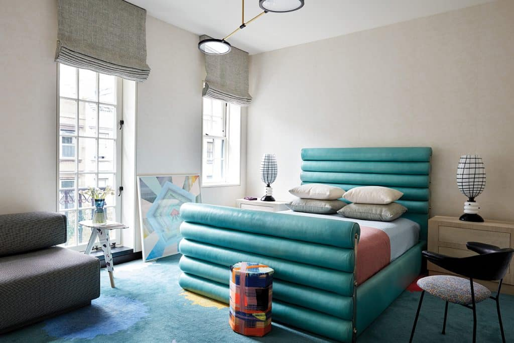 Kelly Wearstler: Evocative Style her own New York Central Park townhouse bedroom