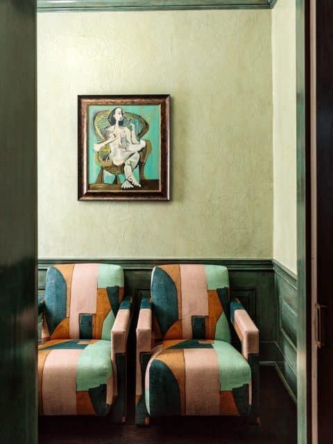 Kelly Wearstler: Evocative Style her own Los Angeles home powder room vestibule