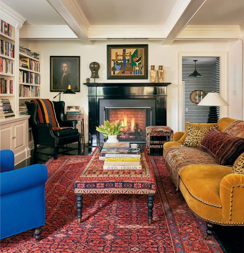 Patrick Mele family room New York Westchester County On Style Carl Dellatore