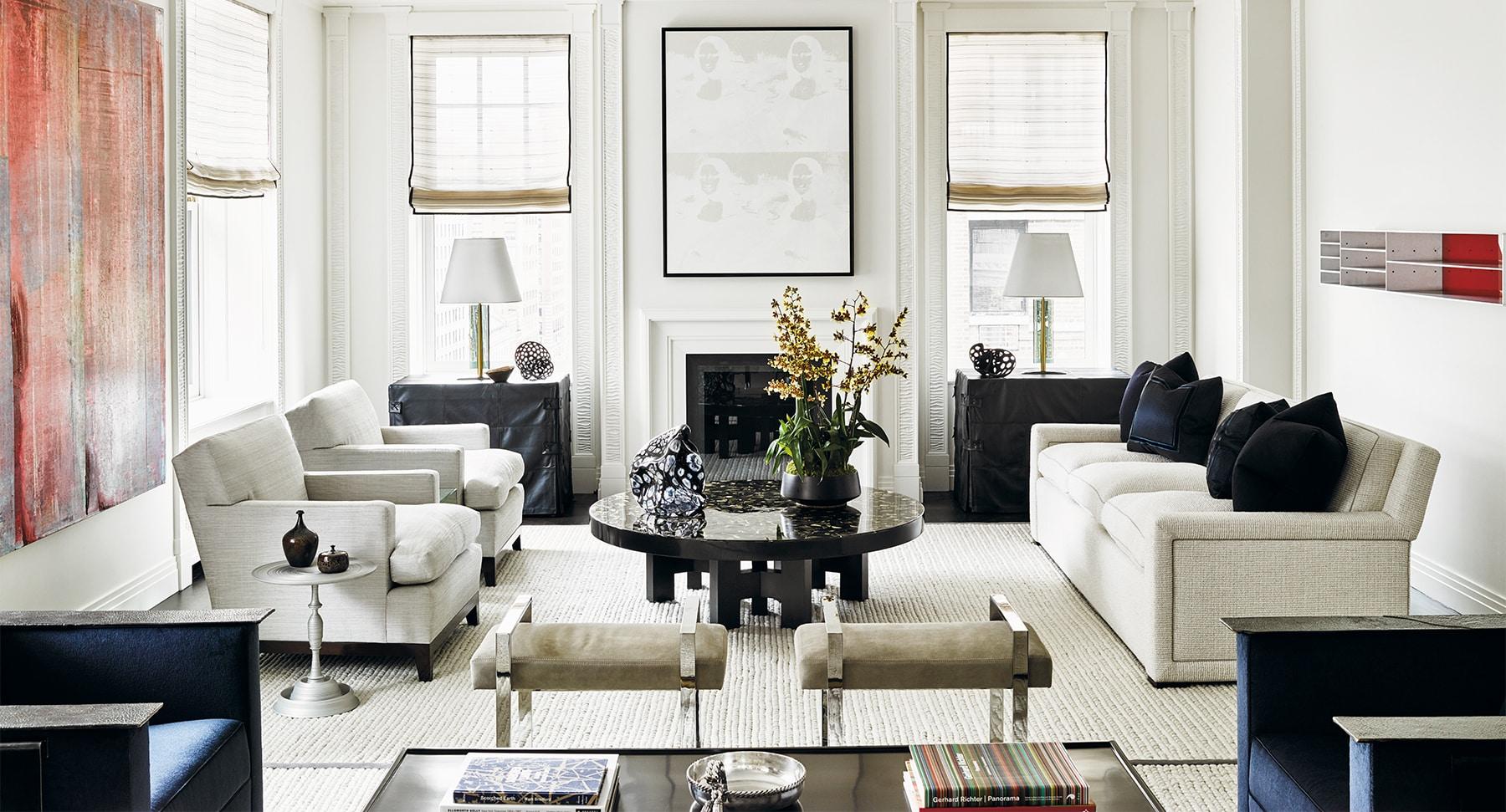 Sean Matijevich David Kleinberg Design Associates living room Carl Dellatore On Style
