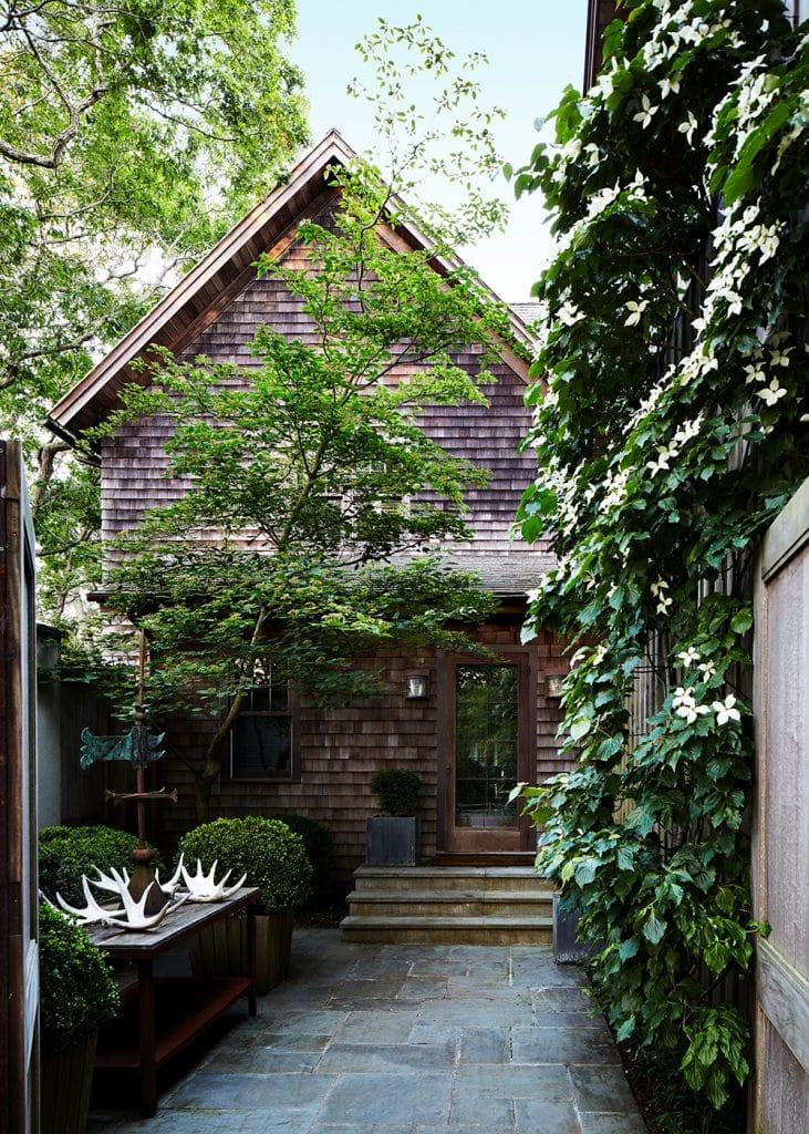 Interior Designer Robert Stilin: Interiors his own Hamptons home exterior courtyard