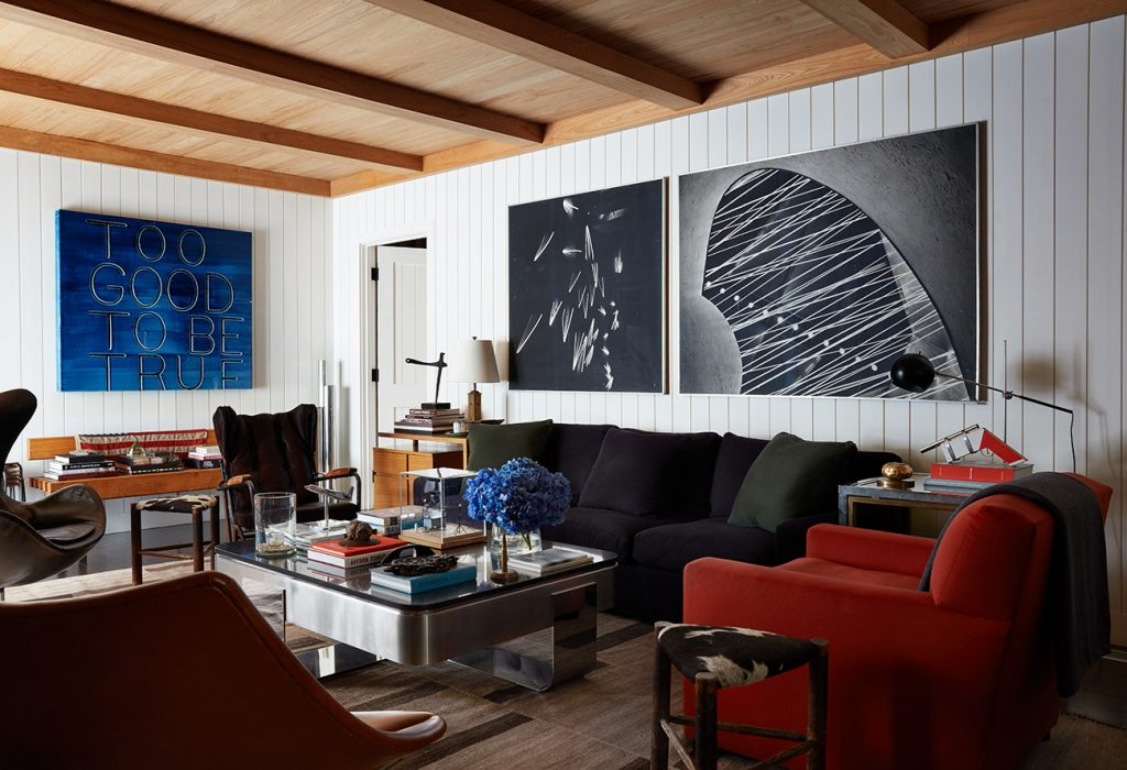 Interior Designer Robert Stilin: Interiors his own Hamptons home living room
