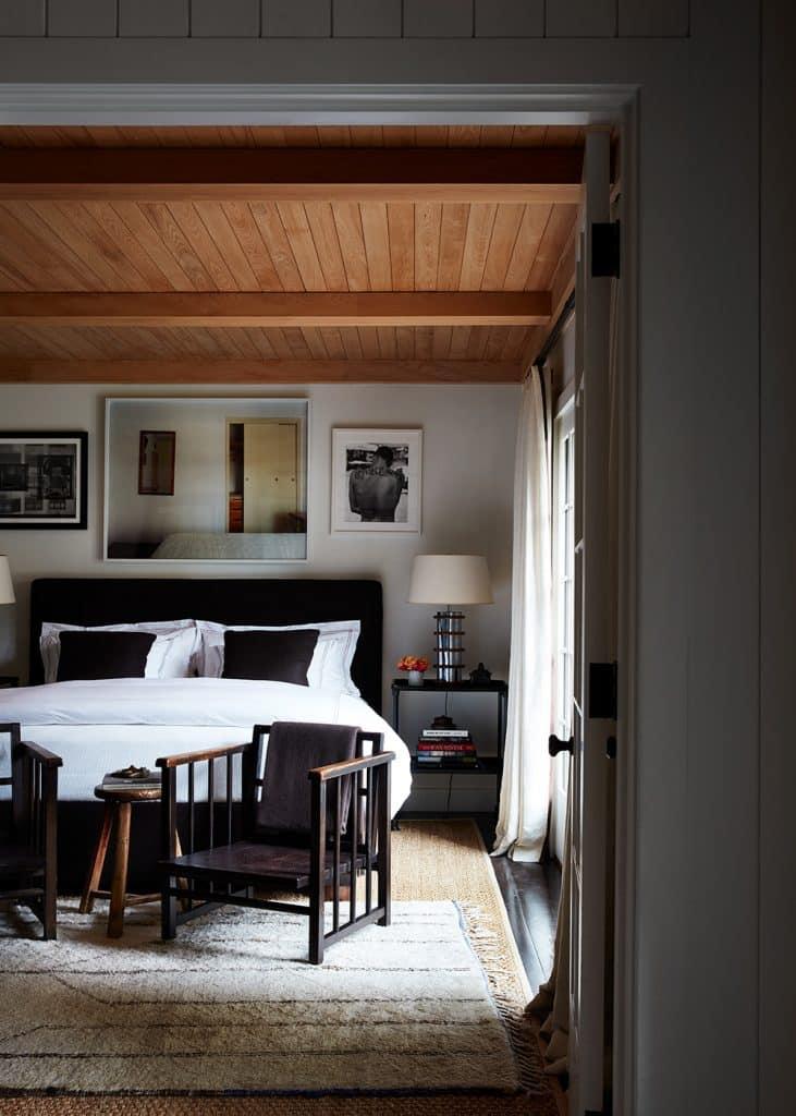 Interior Designer Robert Stilin: Interiors his own Hamptons home guest bedroom