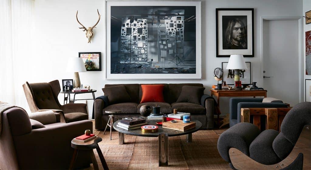 Interior Designer Robert Stilin: Interiors his own Soho New York apartment living room