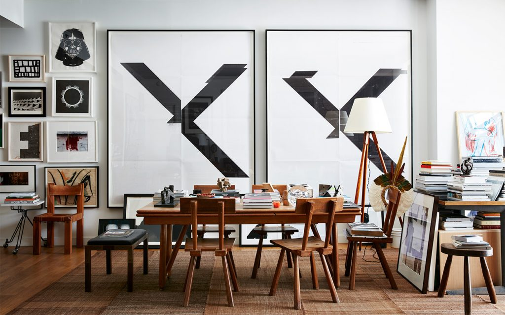 Interior Designer Robert Stilin: Interiors his own Soho New York apartment dining area