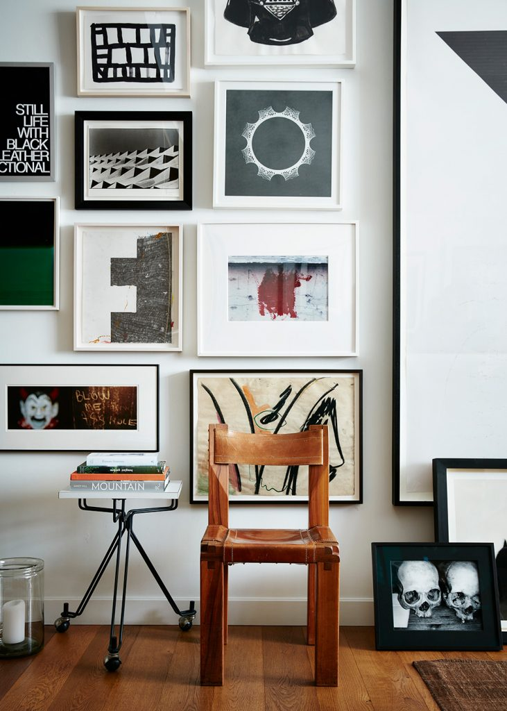 Interior Designer Robert Stilin: Interiors his own Soho New York apartment gallery wall
