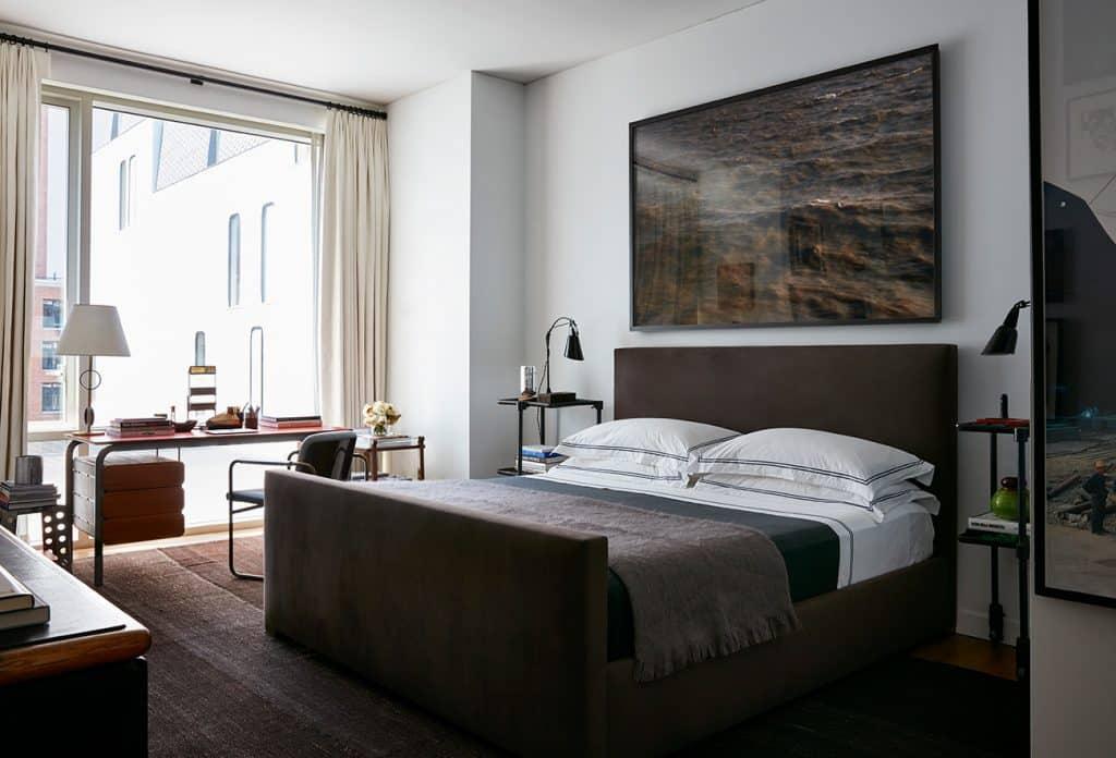 Interior Designer Robert Stilin: Interiors his own Soho New York apartment master bedroom