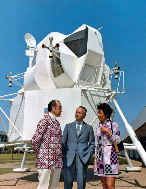 Emilio Pucci visiting NASA Space Center