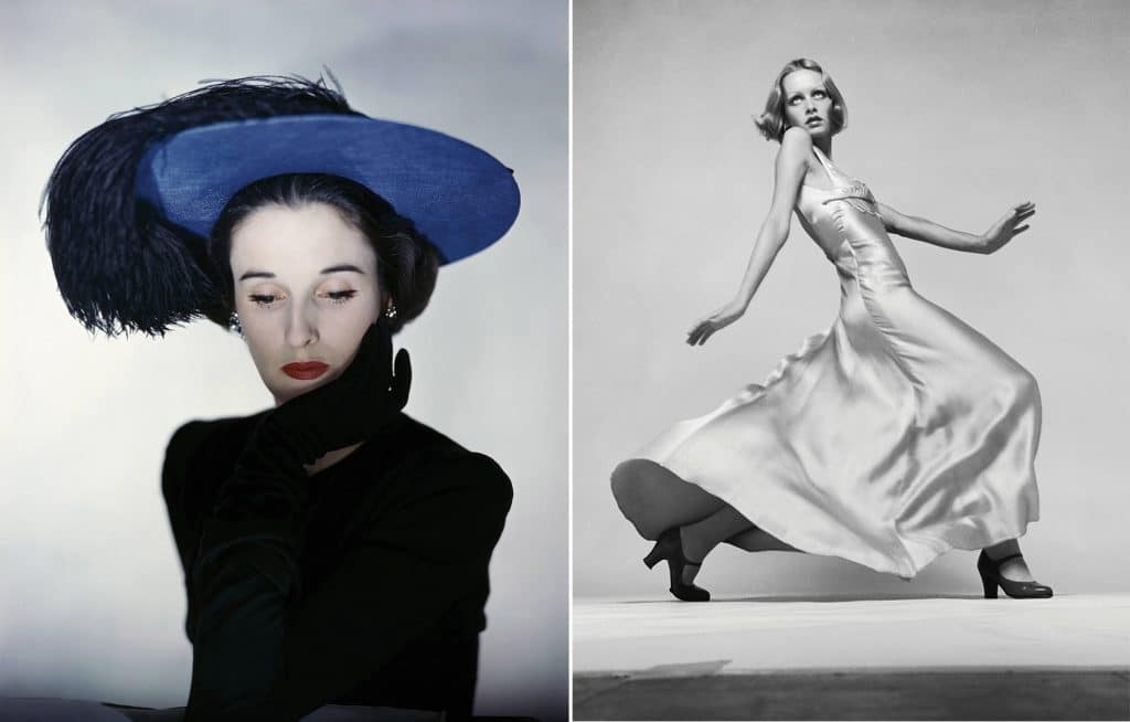 Babe Paley and Twiggy