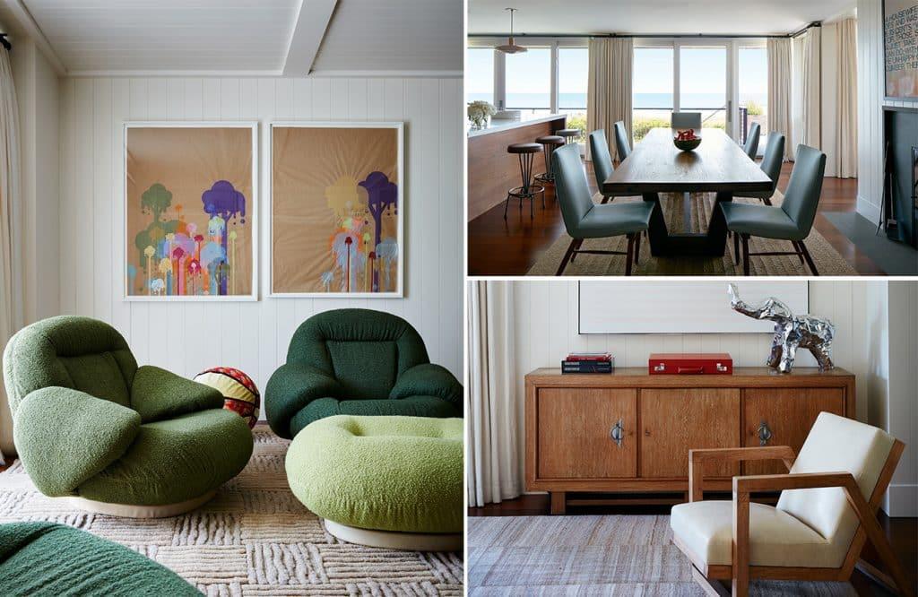 Interior Designer Robert Stilin: Interiors Sagaponack house playroom dining room