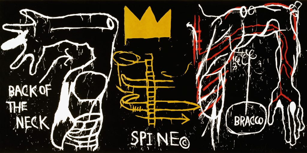 """Jean-Michel Basquiat's 1983 painting """"Back of the Neck"""""""