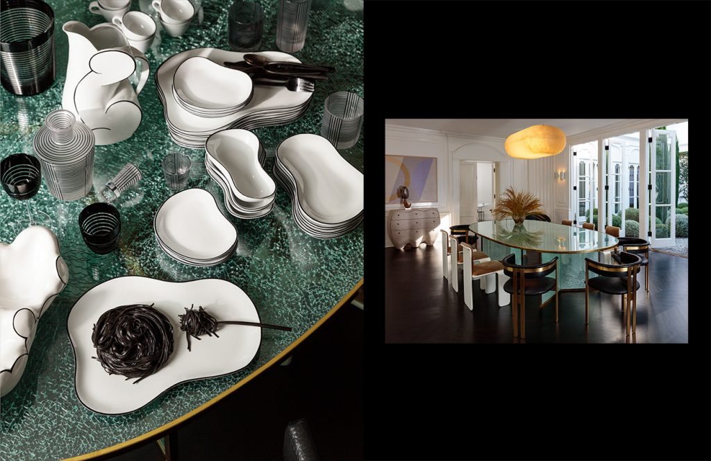 Kelly Wearstler: Evocative Style her own Los Angeles home dining room tabletop