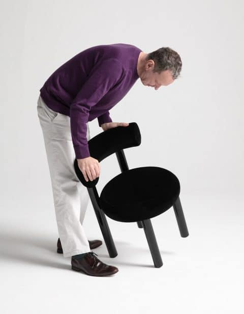 Tom Dixon with chair