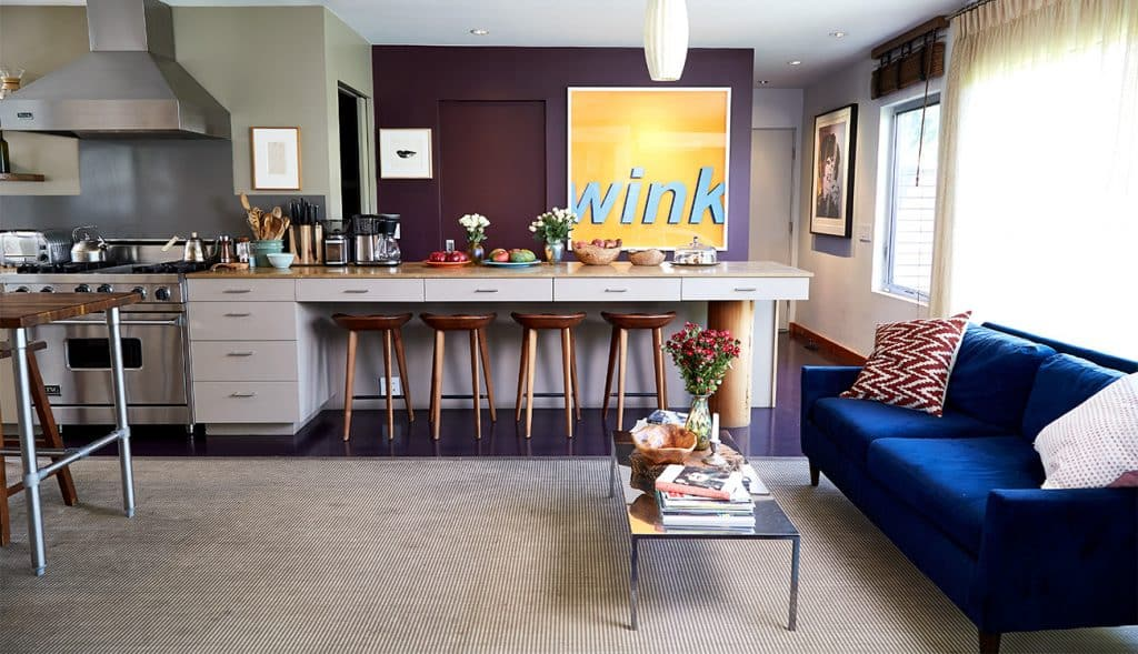 Los Angeles–based artist Paul Rusconi Hollywood Hills home kitchen