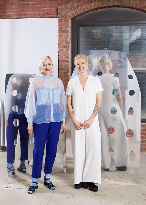 Leah Ring and Emma Holland Denvir of Object Permanence at the 1stdibs Gallery
