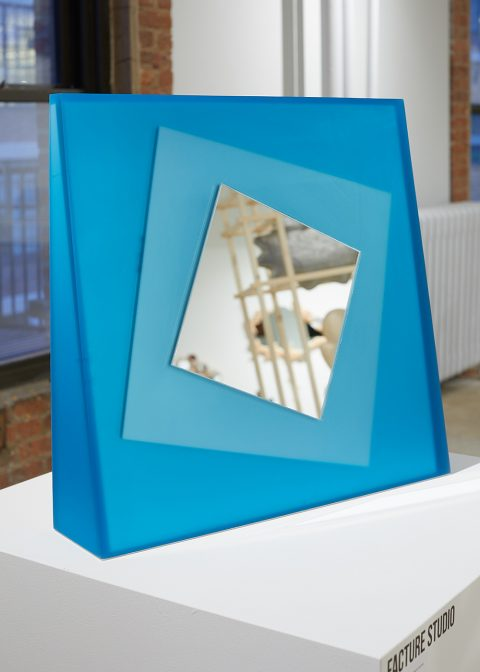 Rotated Scale Mirror by Facture at Object Permanence at the 1stdibs Gallery
