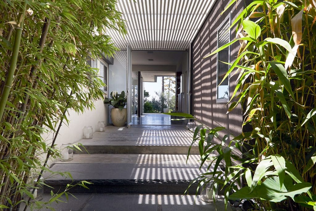 Los Angeles–based artist Paul Rusconi Hollywood Hills home exterior entry