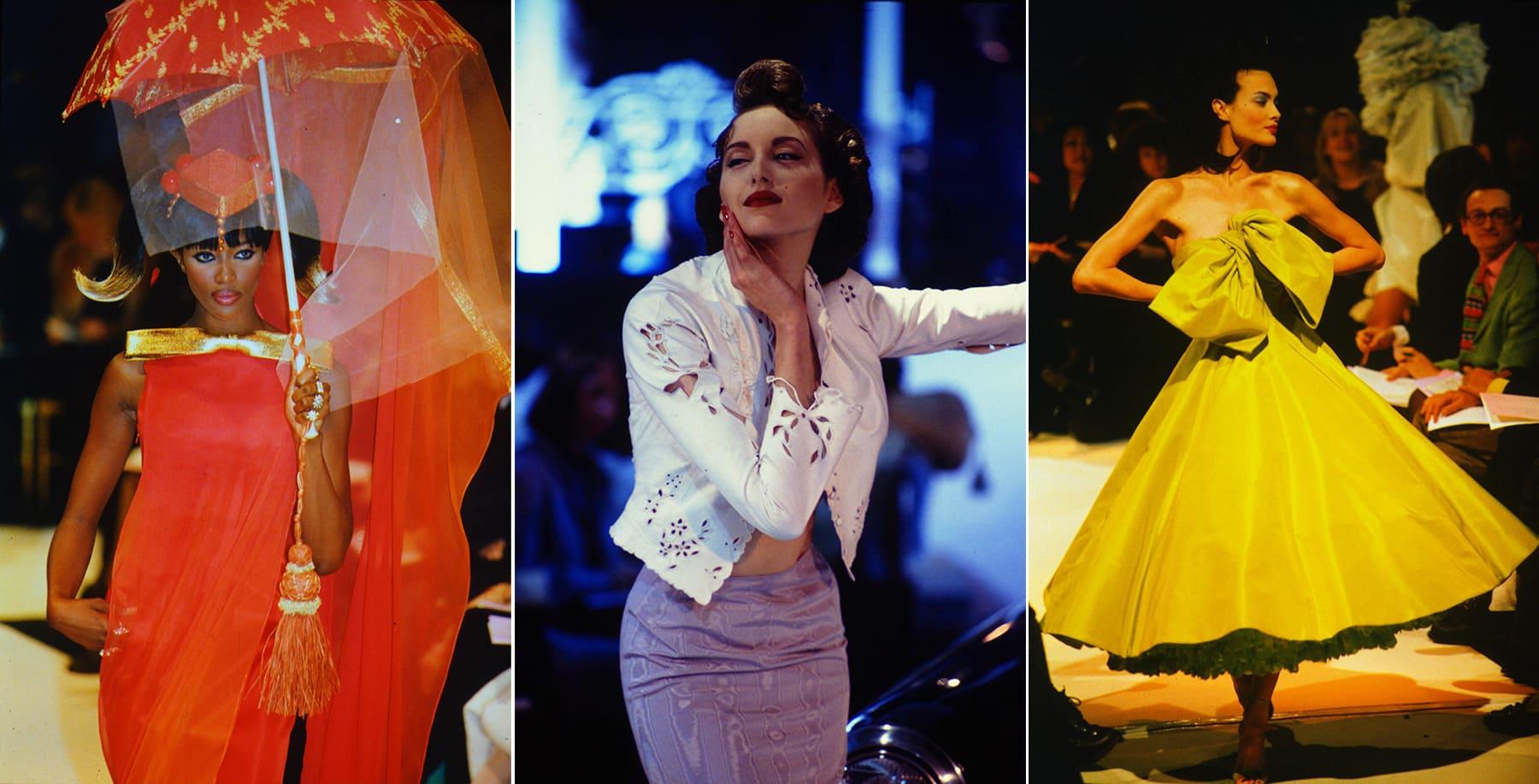 John Galliano fashion on Naomi Campbell, Madonna