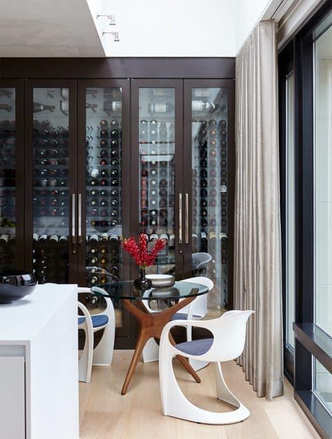 Interior designer Heather Wells architect Karen Conway home Boston kitchen wine storage