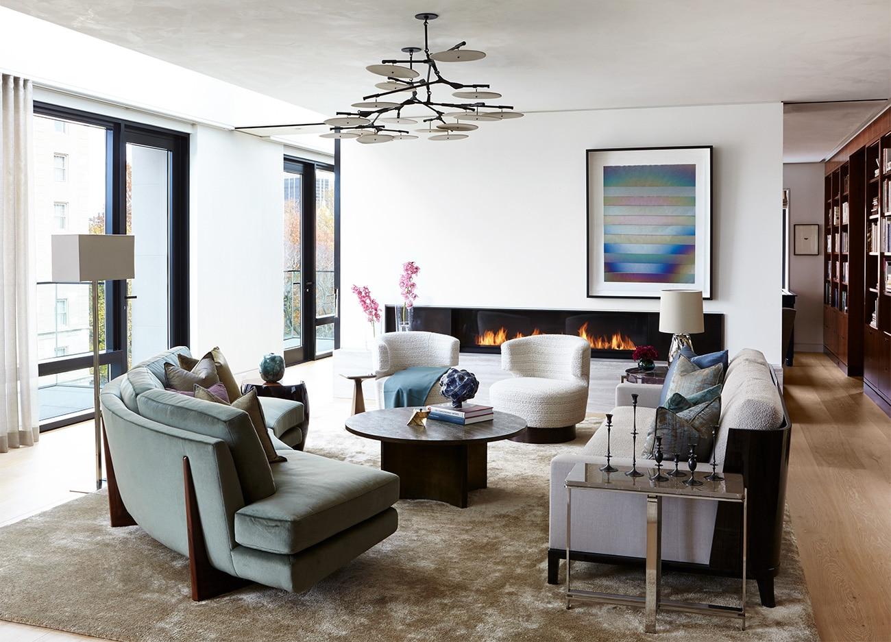Interior designer Heather Wells architect Karen Conway home Boston living area