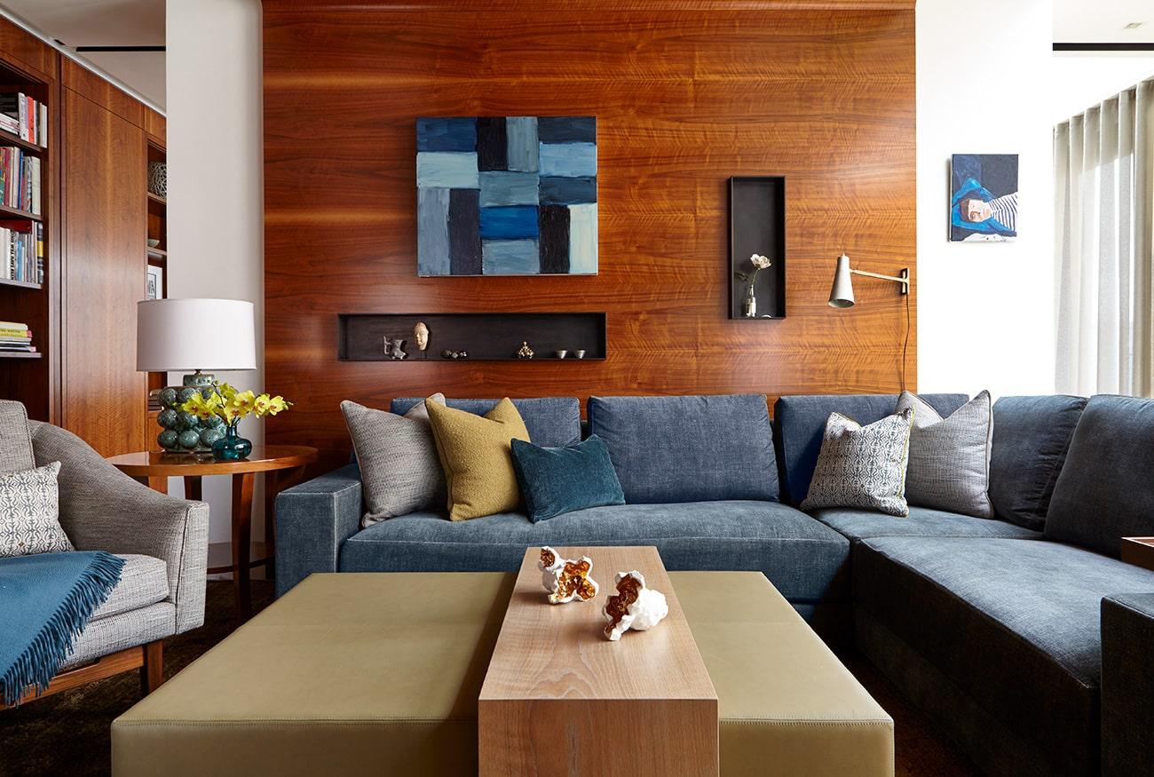 Interior designer Heather Wells architect Karen Conway home Boston library media room den