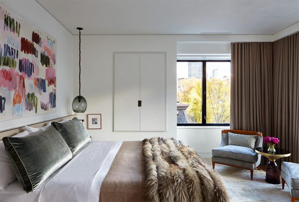Interior designer Heather Wells architect Karen Conway home Boston master bedroom