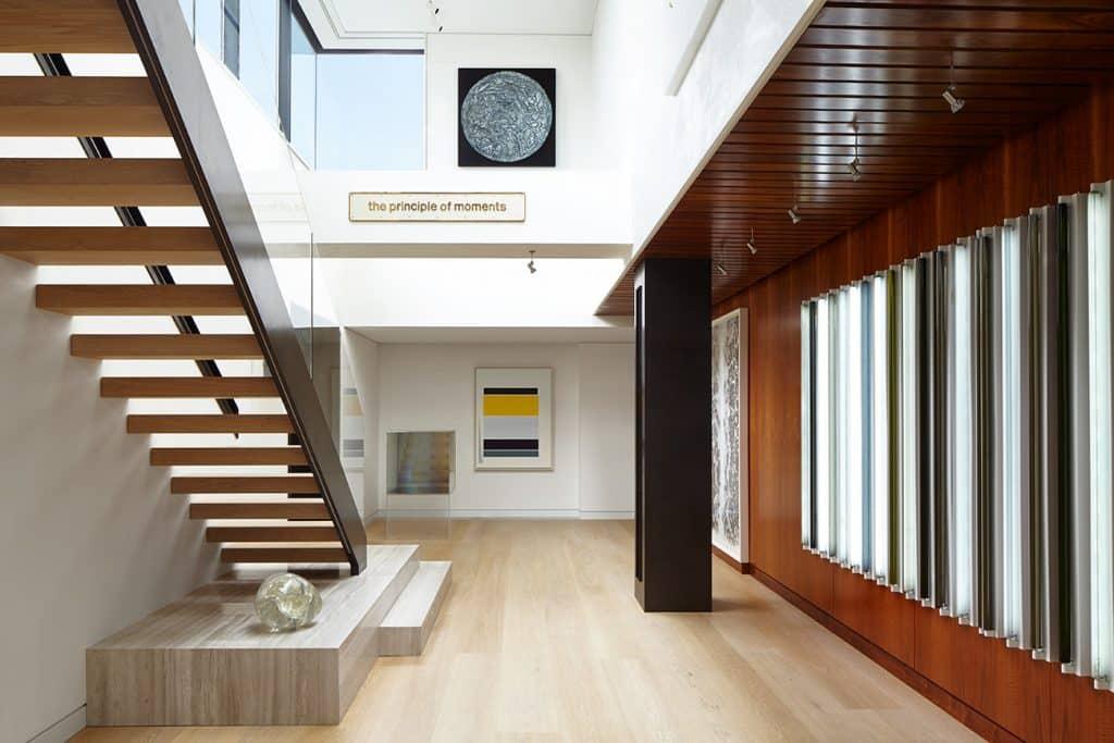 Interior designer Heather Wells architect Karen Conway home Boston art gallery atrium
