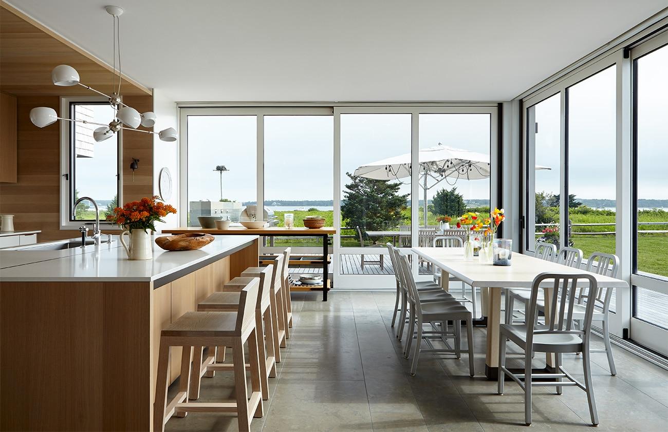 Interior designer Heather Wells architect Karen Conway home Martha's Vineyard kitchen