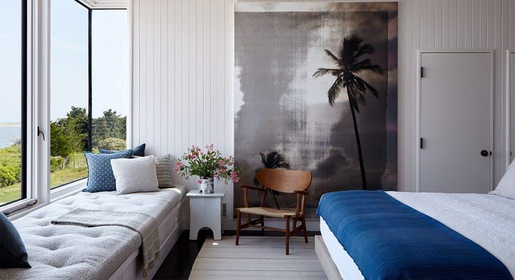 Interior designer Heather Wells architect Karen Conway home Martha's Vineyard guest bedroom