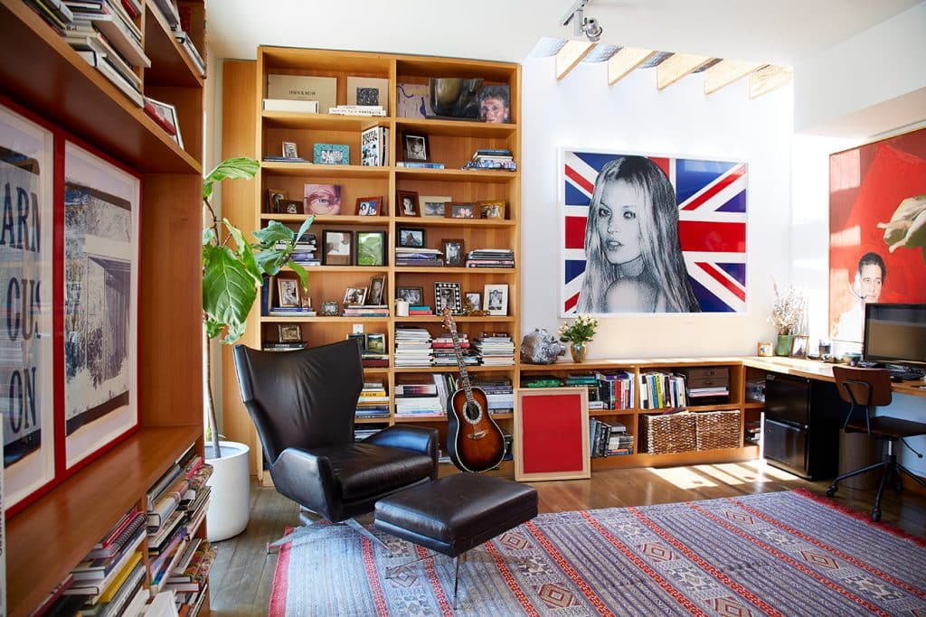Los Angeles–based artist Paul Rusconi Hollywood Hills home office