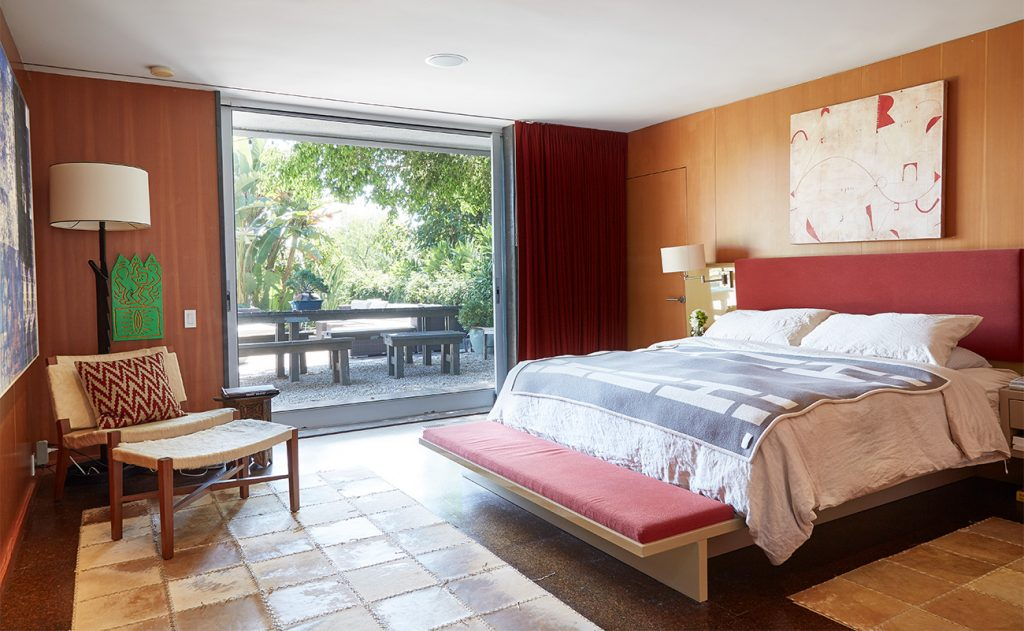 Los Angeles–based artist Paul Rusconi Hollywood Hills home bedroom