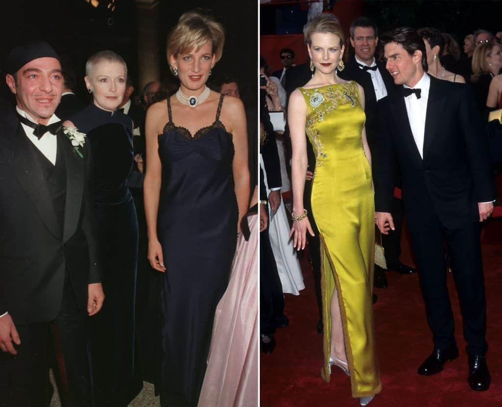 John Galliano with Princess Di, Nicole Kidman and Tom Cruise
