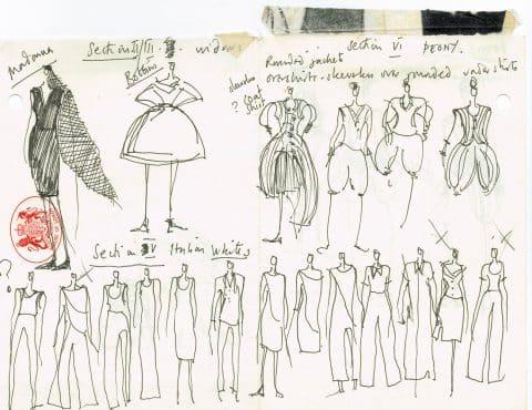 John Galliano fashion sketches