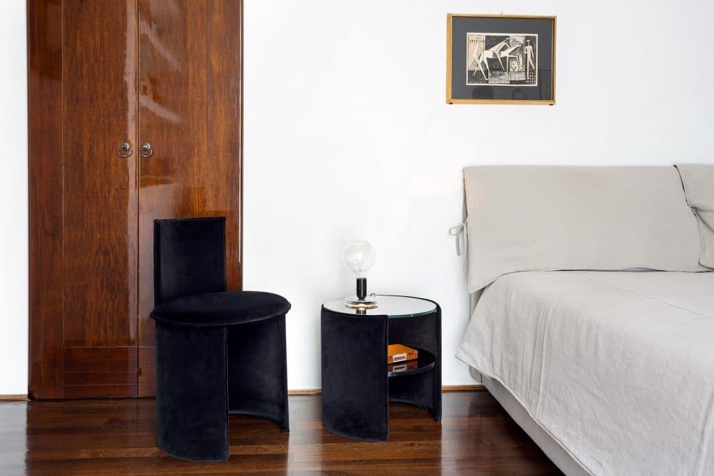 Francesco Soro's monochromatic bedroom