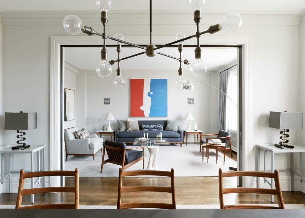 designer Alexander Doherty New York Upper West Side Classic Eight Living Room