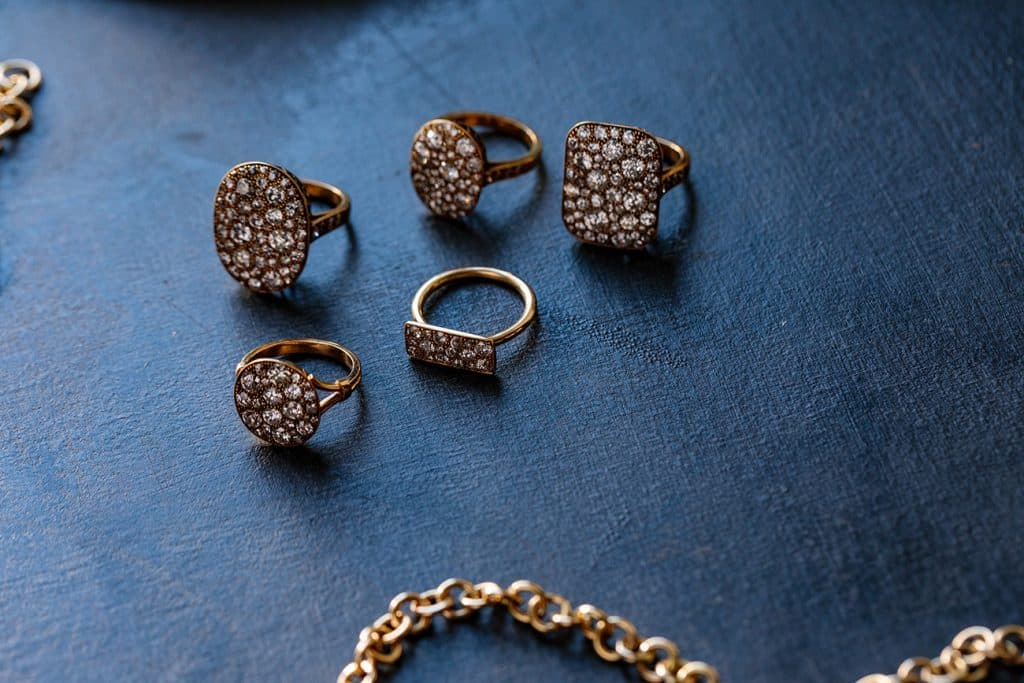 Single Stone Cobblestone rings