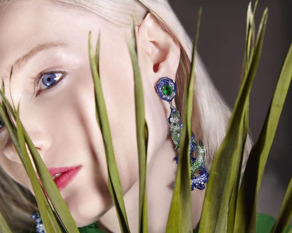 Bi Color Parisa Earrings by Neha Dani
