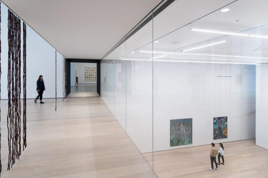New spaces in the expanded Museum of Modern Art.