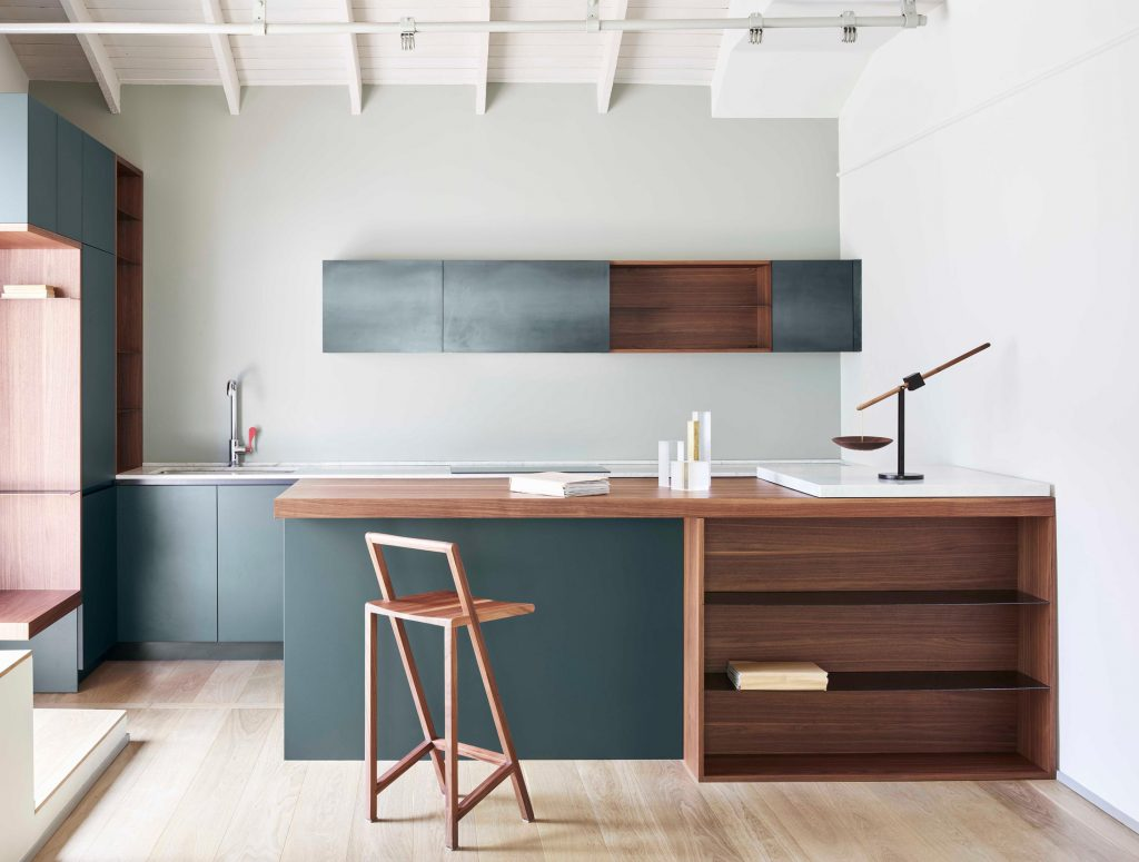 Milan furniture designer Giacomo Moor custom kitchen