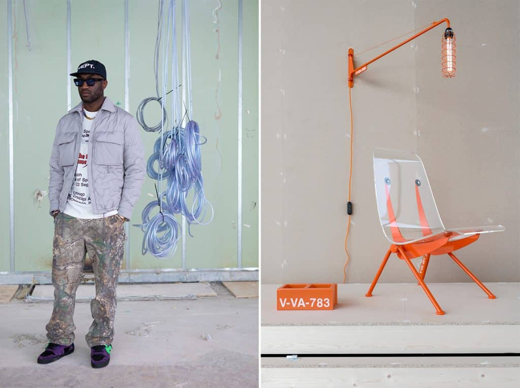 Virgil Abloh launched a collection for Vitra.