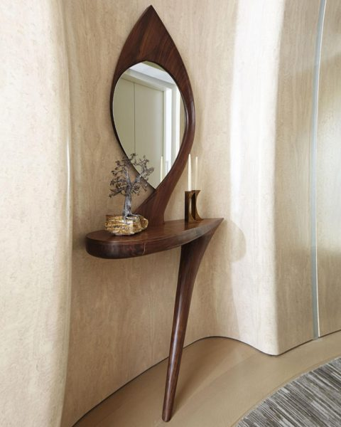 New York Interior designer Amy Lau custom commissions Michael Coffey console table and mirror Tribeca